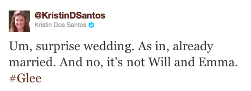 Yes/No Spoiler Tweet: Someone's already married. Not Wemma.